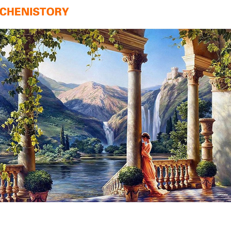 CHENISTORY Goddess DIY Painting By Numbers HandPainted Painting On Canvas Home Decor For Living Room Unque Gift Wall Art Picture
