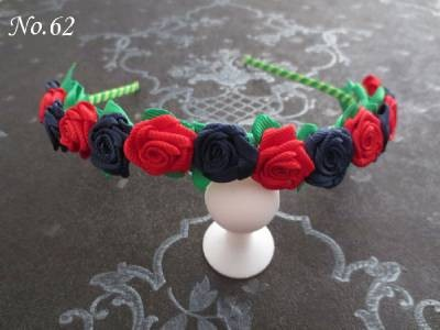 50 Pcs Fashion Stylish HOt Sale Flower Garland Floral Headband Hairband flower headband Hair Accessories free shipping  84 No. metting joura vintage bohemian green mixed color flower satin cross ethnic fabric elastic turban headband hair accessories