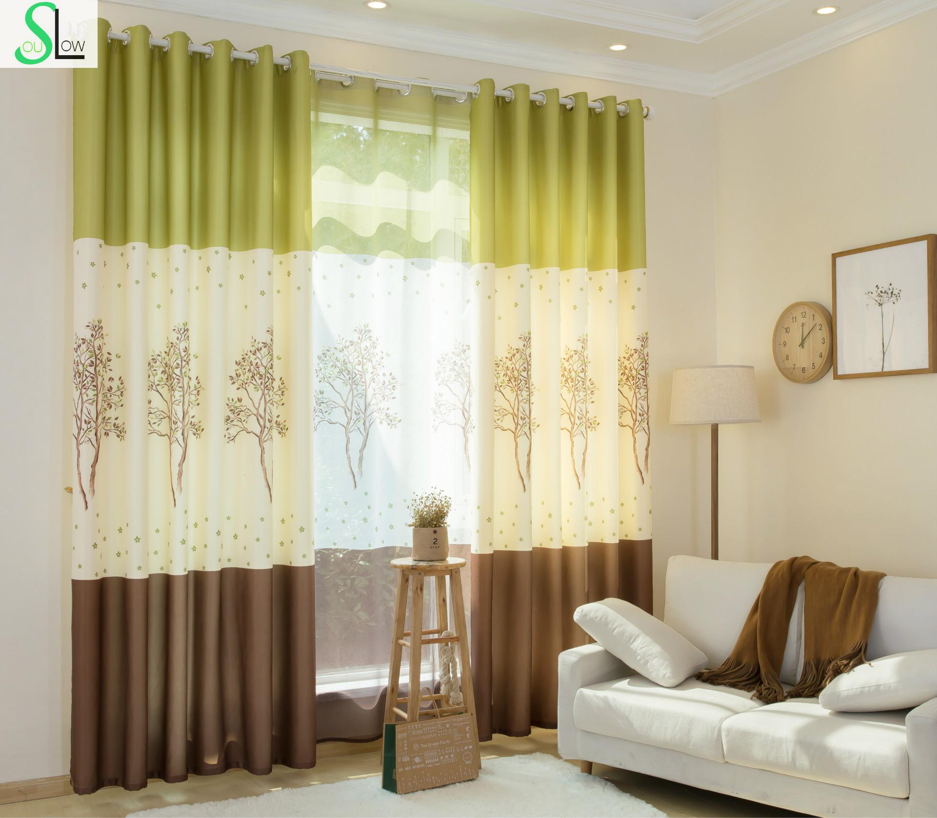 Green curtains for bedroom - Slow Soul Colorful Tree Green Blue Shade Curtain Children Baby Kids Curtains For Bedroom Living Room