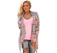 Warme Trui Onregelmatige Losse Geometrische Knit Vest Jas Herfst Winter Gedrukt Schouderophalen voor vrouwen