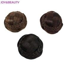 Радость и красоты зажим для волос в Шиньон Donut ролика Bun парики химическое Шиньон парики 3 вида цветов Бесплатная доставка