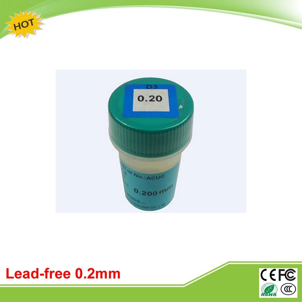 250K 0.2mm lead free BGA solder ball for BGA chip repair reballing kit lead free bga solder balls 250k 0 35mm for bga repair bga reballing kit bga solder ball