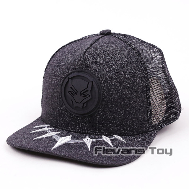 d69253f28aa49 Marvel Avengers Black Panther Fashion Summer Baseball Cap Men Mesh  Breathable Snapback Cap Adjustable Sport Hats Dad Hat Bone