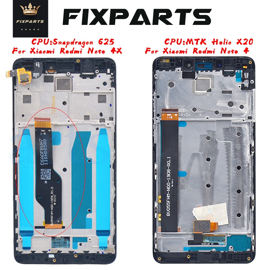 New Original LCD <font><b>Xiaomi</b></font> <font><b>Redmi</b></font> Note <font><b>4X</b></font> LCD Display Touch Screen Assembly Note4 Display Replacement Parts <font><b>Xiaomi</b></font> <font><b>Redmi</b></font> Note 4 LCD image