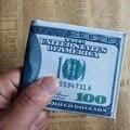 Мода Доллары Pattern Мужчины Холст Бумажник Мини Женщины Деньги Фото Кошелек Простой Дизайн Сумки