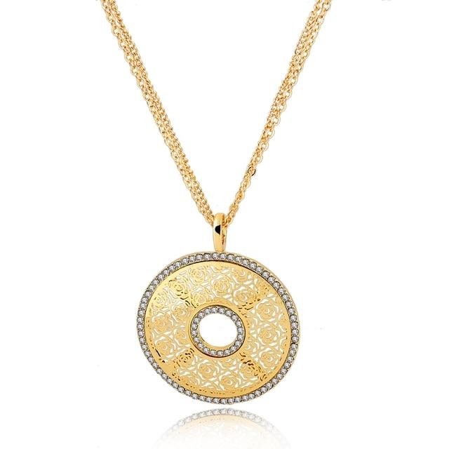 Szelam 2017 crystal multi layer necklaces pendants for women gold szelam 2017 crystal multi layer necklaces pendants for women gold chain long necklaces hollow design bijoux aloadofball Choice Image