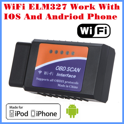 Free Shipping 2017 New Arrival Code reader Diagnostic Tool WiFi ELM327 WiFi Work With iPhone