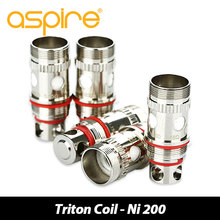 5 unids/lote Original Aspire Triton/Triton 2/Atlantis Atomizador Vaporizador Bobina 1.8ohm/0.15ohm/0.3ohm/0.4ohm bobina cigarrillo electrónico Cabeza