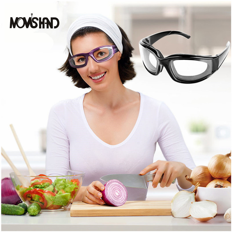 MOM'S HAND Kitchen Tools Onion Cutter Goggles Onion Tear Free Glasses Chopping Eye Protector Glasses 1