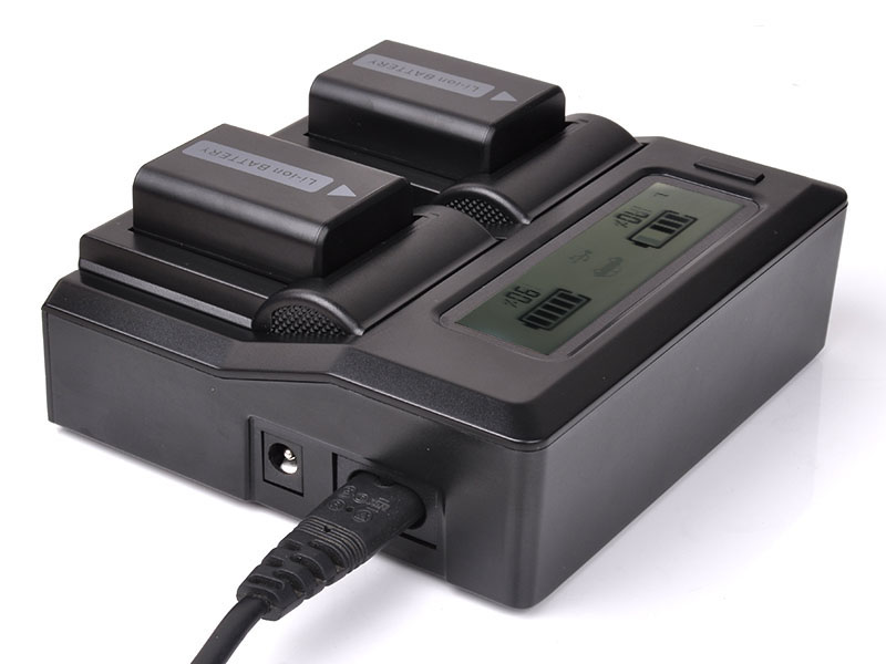 DSLR LCD Dual Battery Plug Charger For Sony NP-FW50 A5100 A6000 RX10 A7R A7S A7 II NEX7 5R