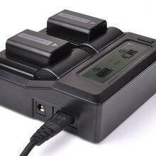 DSLR ЖК-дисплей двойной Батарея штекер Зарядное устройство для sony NP-FW50 A5100 A6000 RX10 A7R A7S A7 II NEX7 5R