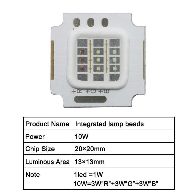 RGB Terintegrasi Chip LED 10W 20W 30W 50W COB Bulb Daya Tinggi Manik Lampu Plat Aluminium untuk Lampu LED