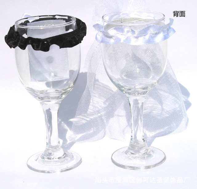 Hot 2pcs \\ SET Bride Groom Wedding Party Wine Glass Packaging sets ...