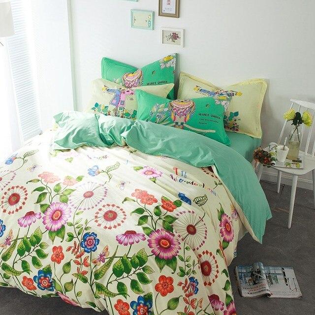 Tutubird Pastorale Floral Couette Couvre Belle Fleur Literie Textile