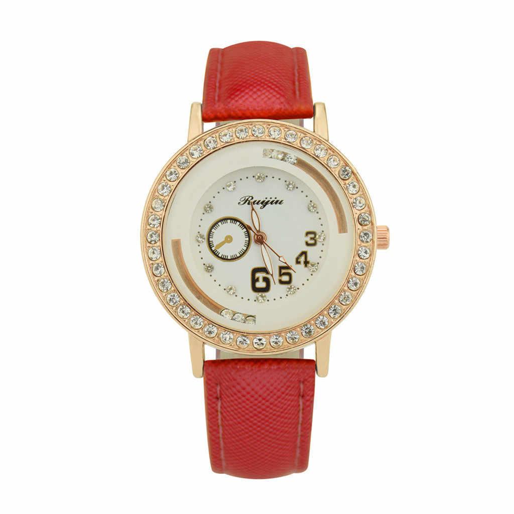 Relogio Feminino luksusowe panie metalu zegarek kwarcowy skórzane pas tarcza z damskie zegarki z diamentami Reloj Mujer dropshipping zegarek na rękę saat