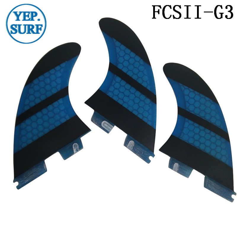Surf FCS II G3 Fins fcsii blue Fibreglass Honeycomb Fin FCS 2 SUP Board Good Quality