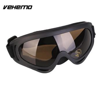 Vehemo Motocross Sport fajne brud okulary motocyklowe wyścigi motocyklowe gogle silnika okulary wysokiej jakości Unisex tanie i dobre opinie MULTI Jeden rozmiar