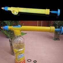 a488087b7f8 Mini botellas de jugo botellas de cabeza del rociador de pistola de agua de  plástico pulverizador a presión jardín Bonsai agua d.