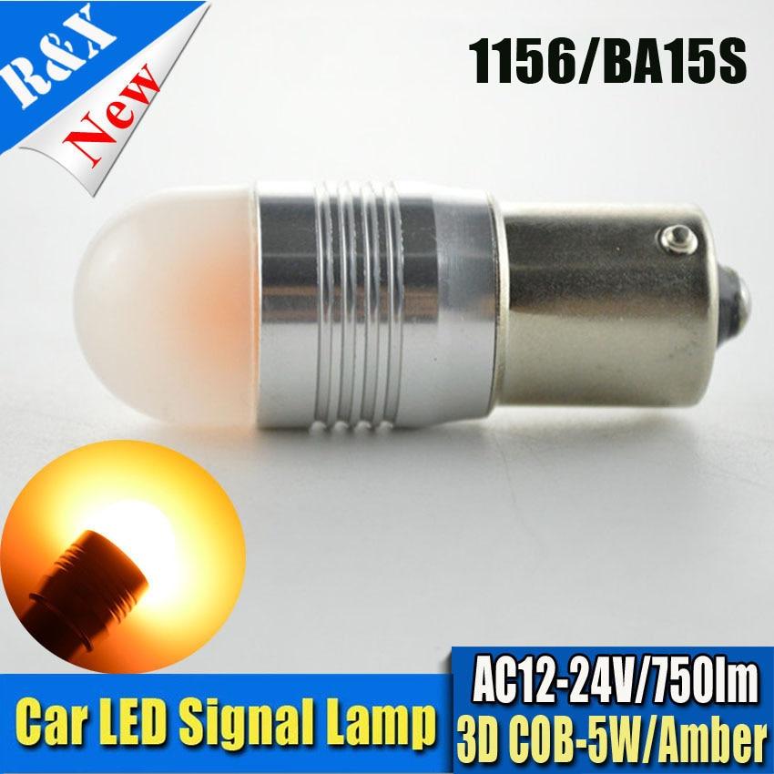 12V 24V!! 2pcs/lot 1156 BA15S BAU15S PY21W 7.5W Canbus Erroe Free 3D COB Amber LEDs LED Bulbs S25 P21W P21/5W Turn Signal Light бра leds c4 emy 05 4409 21 12