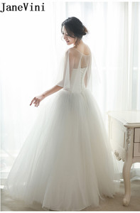 Image 5 - JaneVini capas de Bolero de boda para mujer, chal para veladas fiesta nupcial, envoltura de tul, Verano