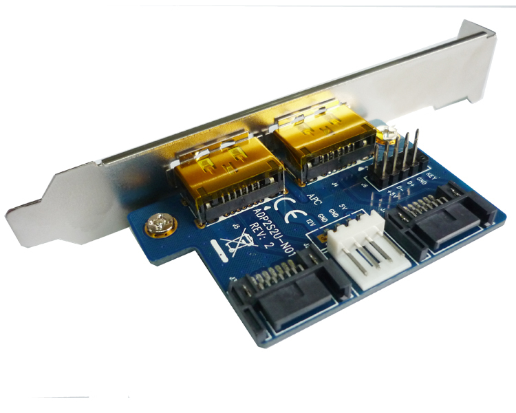 Dual SATA TO 2 Port Power eSATA eSATAp Adapter Converter Card Low + Full-Height Profile For External Hard Drive sata ide to usb 2 0 adapter converter with ac power adapter for 2 5 3 5 5 25 hard drive