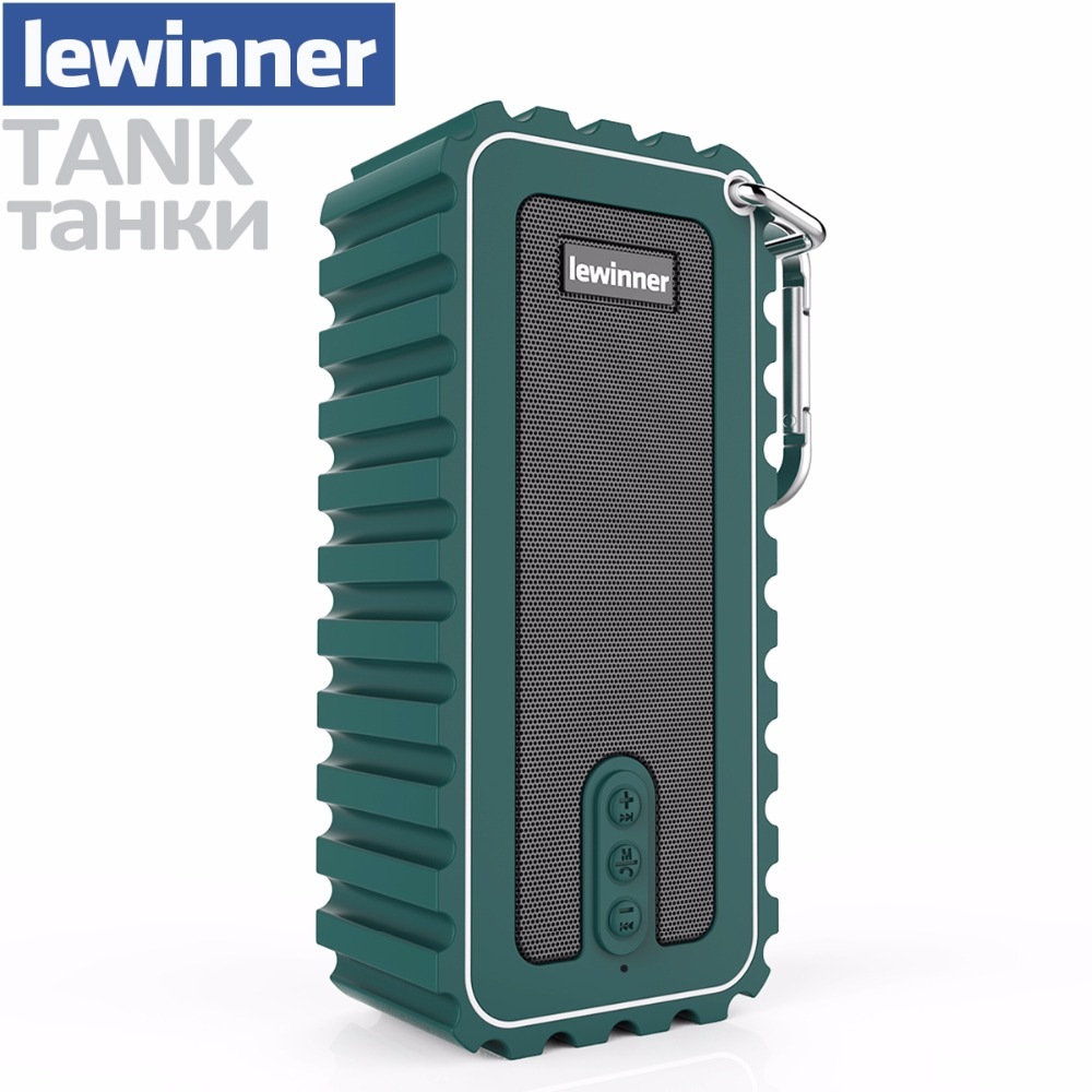 Lewinner Bluetooth Динамик открытый Портативный Беспроводной Водонепроницаемый Динамик с Enhanced Bass 10 Вт драйверы/A2DP/12 час игр