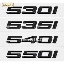 Для BMW 5 серии 530i 535i 540i 550i E12 E28 E34 E39 E60 E61 F10 F11 F07 Задняя Крышка багажника алфавитные буквы значок эмблема наклейка