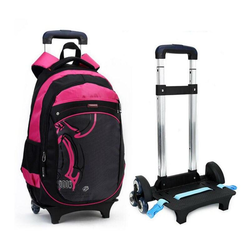 3 Wheels Children School bags Primary student trolley ...