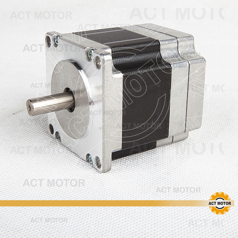 ACT Motor 1PC Nema23 Brushless DC Motor 57BLF01 24V 63W 3000RPM 3Ph Single Shaft+1PC Driver BLDC-8015A 50V CNC US UK DE JP Free