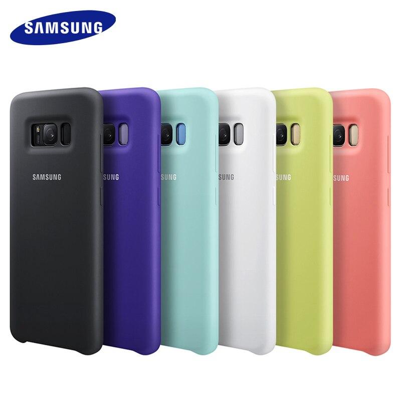100% Originale Per Samsung Caso Della Copertura Del Silicone per Samsung Galaxy S8 S8 PIÙ g9550 9500 EF-PG950-6 colori Anti-Protezione Contro l'usura