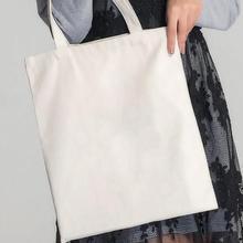938e87000 Branco Sacos de Ombro Saco de Compras Ecológico Saco de Lona Sólida Uso  Diário Dobrável Sacos Crossbody Bolsas Casual Bolsa #11