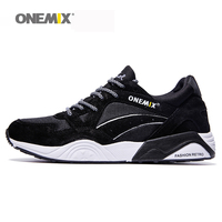 Onemix men's retro sport sneakers outdoor running shoes for man vintage shoes breathable jogging trainers shoes sales clearance