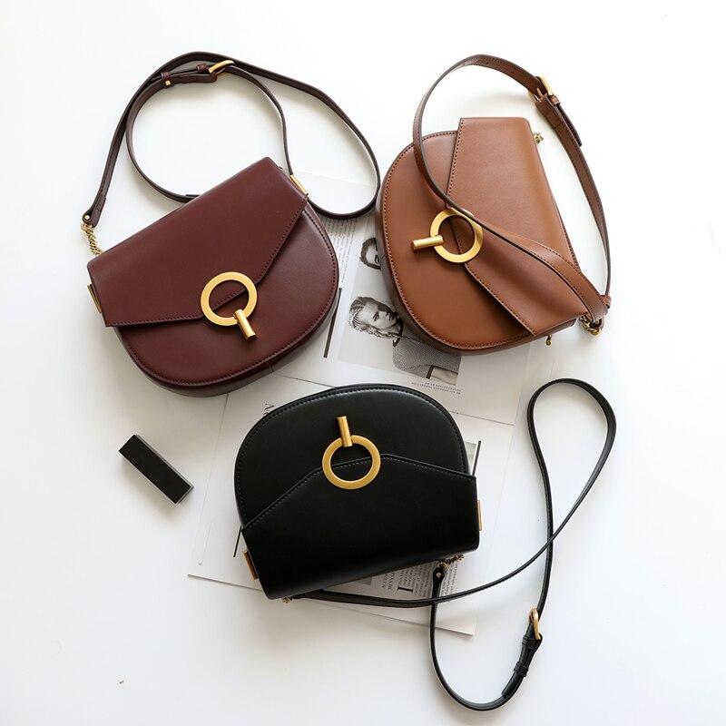 Crossbody Messenger 2019 Schulter black Echtes Brown burgundy Frauen Tasche Leder Weiche w5EYYRCq