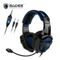 Sades бсила стерео звук консоли игровая гарнитура 3.5 мм оголовье наушников Применимо к Xbox One/PS4/PC/ ноутбук/мобильных устройств