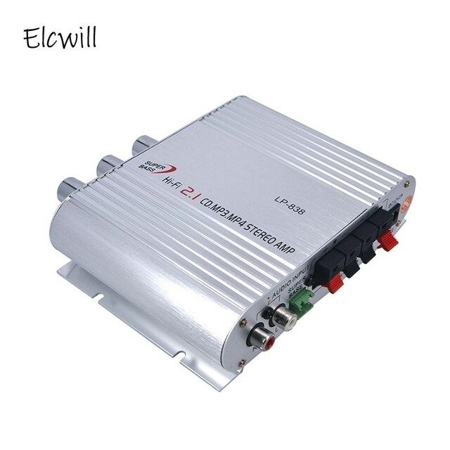 Amplificateur de voiture chaude Hi Fi 2.1 MP3 Radio Audio stéréo haut parleur Booster lecteur pour moto moto usage domestique