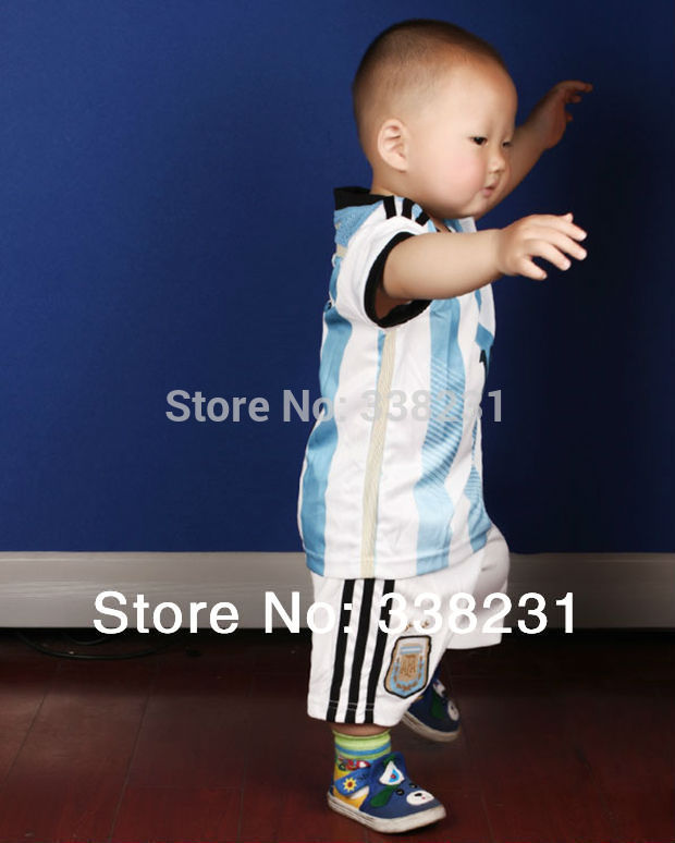 Cheap Clothes China Argentina Children Soccer Jersey Sports Baby