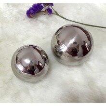 50 шт. 38 мм нержавеющая полый стальной шар зеркальная полированная блестящая сфера для видов орнамента и украшения