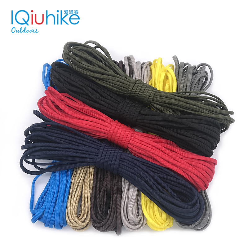 100FT Dia.4mm 7 Stand Cores Paracord For Survival Parachute Cord Lanyard Camping Climbing Camping Rope Hiking Clothesline