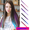 Super Quality 55CM Long Straight Clip In Hair Extensions In Gradient Ombre Color Hair Pieces Colorful Clip In Hair Extensions