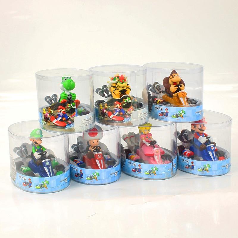 13cm Super Mario Bros Figures Japan Anime Luigi Dinosaurs Donkey Kong Bowser Kart Pull Back Car Pvc Figma Kids Hot Toys For Boys Elegant En Stevig Pakket