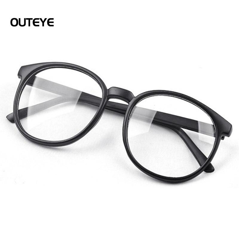 74d2a95b16e34 OUTEYE Harajuku Das Mulheres Óculos de Armação Simples Espelho Do Vintage  Óculos De Lente Clara Óculos Frame Ótico Rodada Menina feminino de grau W0