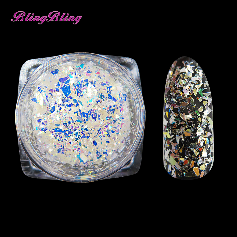 ⊰BlingBling AB Color Paillette Pixie Nail Glitter Holographic Nail ...