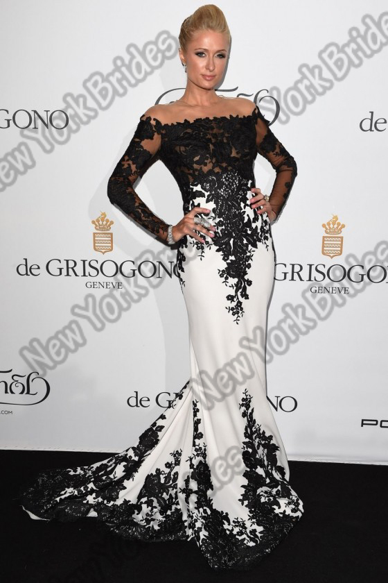 Actually Image Sexy Paris Hiton Long Gowns Appliques Red Carpet ...