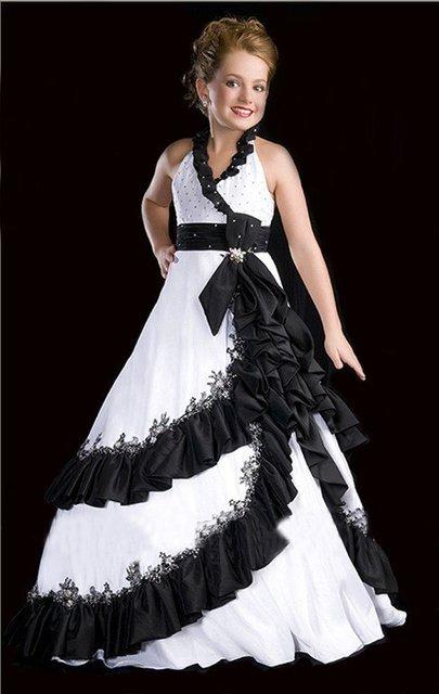 Christmas white black flower girl dress vestido de daminha vestidos christmas white black flower girl dress vestido de daminha vestidos de comunion girls pageant dresses mightylinksfo
