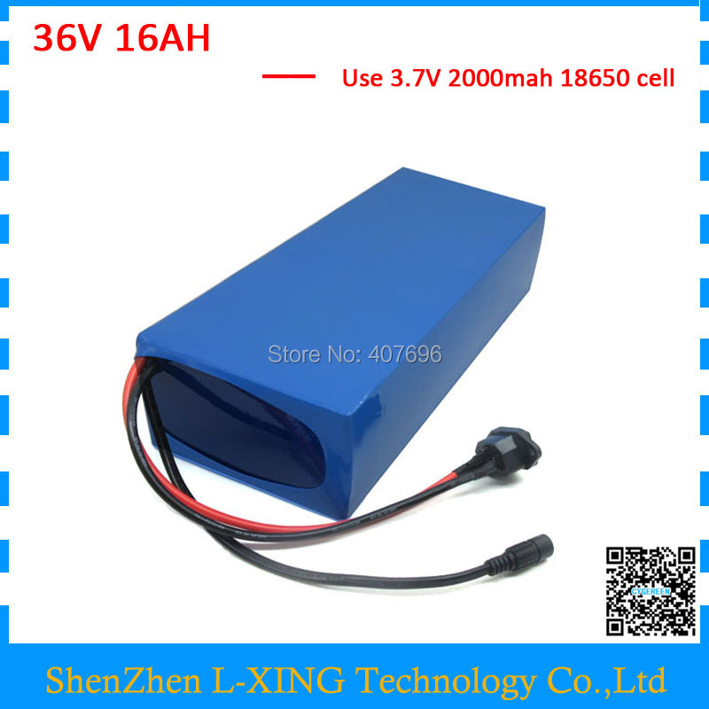 lithium battery 36V 16AH 36 V  16ah Electric bike battery use 30A BMS 42V 2A Charger Free customs fee 36v 8ah lithium ion battery 36v 8ah electric bike battery 36v 500w battery with pvc case 15a bms 42v charger free shipping