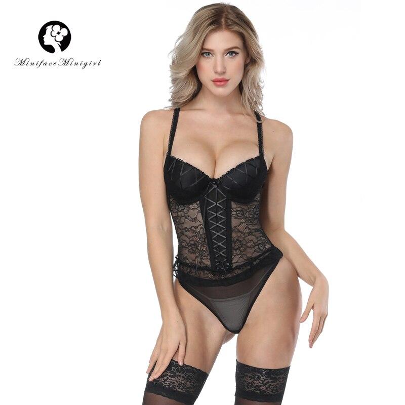 Bustier sexy en dentelle pour femme