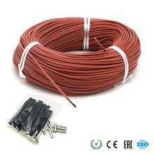 Инфракрасный нагревательный кабель 12 к углеродный теплый пол кабель углеродное волокно нагревательный провод электрическая Горячая линия для теплого пола теплицы