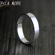 Fyla Mode Fashion S999 Silver Rings Simple Design Men Wedding Rings Adjustble Size 4.30mm TYC021
