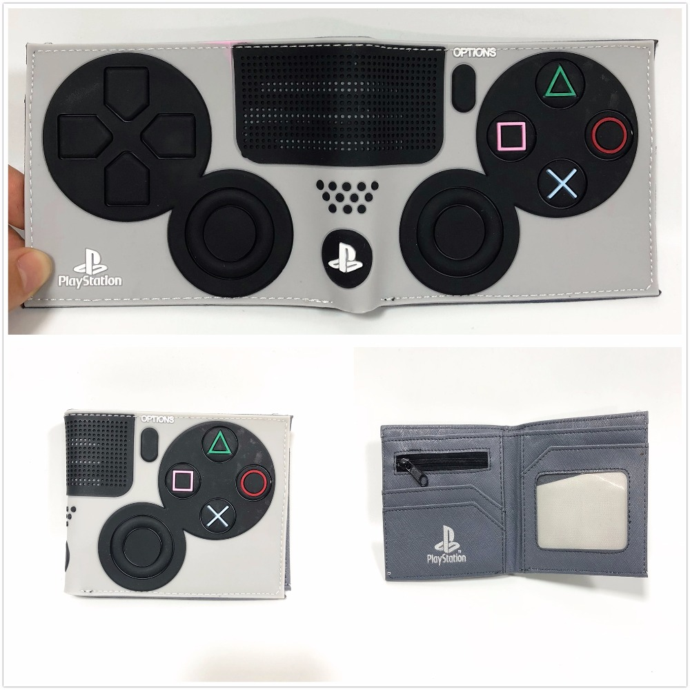 2018 Hot Game PlayStation Wallet Short  PVC Purse Credit Card Holder 3D Touch W957Q