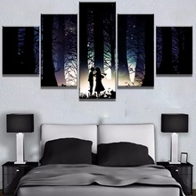 5 Panel HD Print Large Attack on Titan Anime Cuadros Decoracion Paintings Canvas Wall Art for Home Decorations Decor